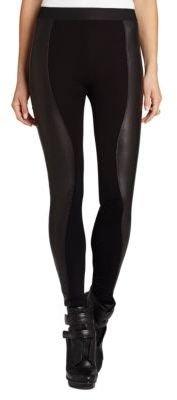 BCBGMAXAZRIA Shelby Stretch-Contrast Pleather Leggings