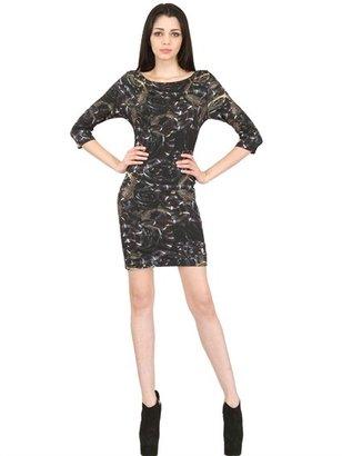 Philipp Plein Printed Viscose Jersey Dress