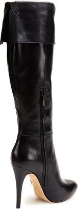 Casadei Leather Foldover Platform Boot