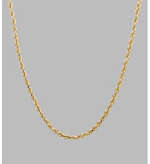 Fine Jewelry 14K Yellow Gold Rope Chain 16""