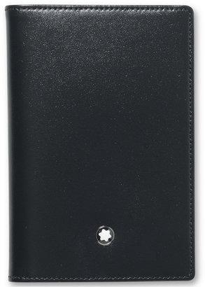 Montblanc Men's Black Leather Meisterstück Business Card Holder 14108 $185 thestylecure.com