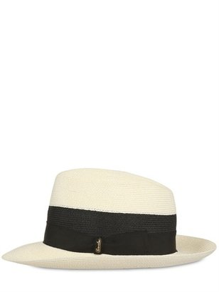 Borsalino Large Brim Canapa Hat