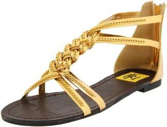 Fahrenheit Women's Dora-08 T-Strap Sandal,Gold,7.5 M US