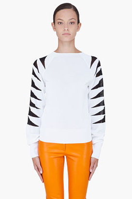 Thierry Mugler Tiger Print Knit Sweater