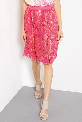 Malene Birger Neveah Pink Lace Skirt