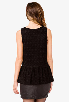 Forever 21 Knotted Lace Top