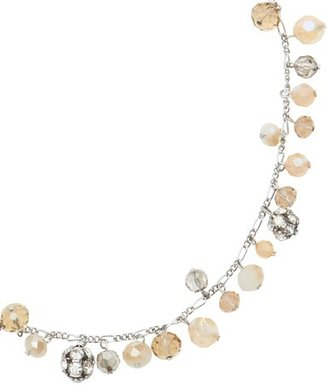 LOFT Long Dangling Neutral Bead and Fireball Necklace