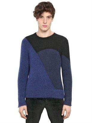 Neil Barrett Geometric Mohair/Wool Knit Sweater