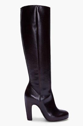 Maison Martin Margiela Dark Brown Handmade Leather Boots