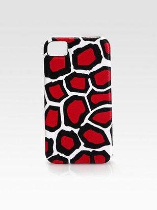 Diane von Furstenberg Leopard Print Leather Case for iPhone 4/4s