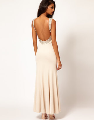 Lipsy VIP Detailed Jewelled Low Back Maxi Dress