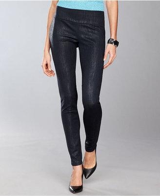 INC International Concepts Pants, Skinny Pull-On Metallic Leggings