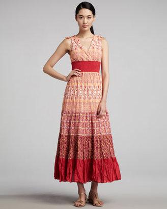 Indikka Printed Tiered Maxi Dress