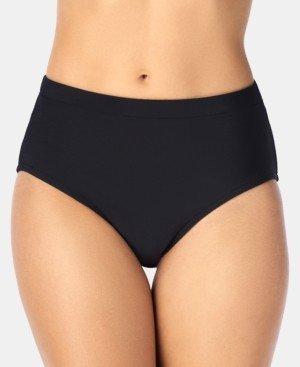 Swim Solutions Mid-Rise Bikini Bottoms Women's Swimsuit