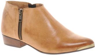 Bertie Proudlock Tan Zip Ankle Boots