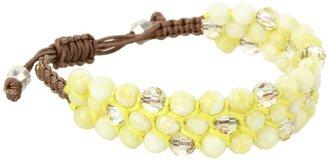 Chan Luu 6 Adjustable Lemon Stone Mix Bracelet (Lemon Stone Mix) - Jewelry