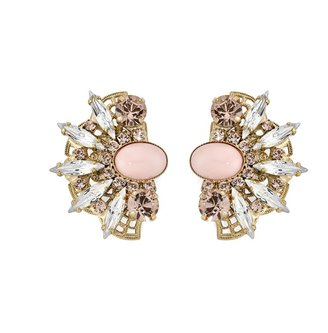 Anton Heunis Crystal Fan Detail Earrings