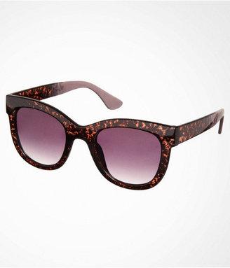 Express Speckled Oversized Wayfarer-Style Sunglasses