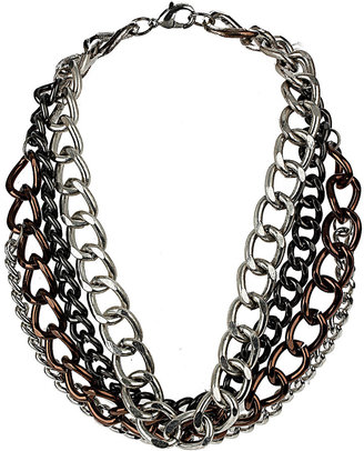 Wallis Chunky Silver Chain Necklace