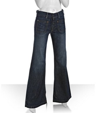 AG Adriano Goldschmied dark blue 'Viceroy' wide flare leg jeans