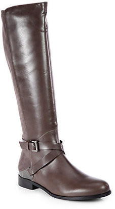 Aquatalia by Marvin K Darla Suede and Leather Riding Boots