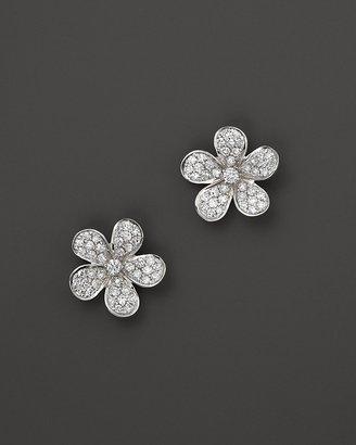 KC Designs Diamond Flower Stud Earrings in 14K White Gold, .40 ct. t.w.