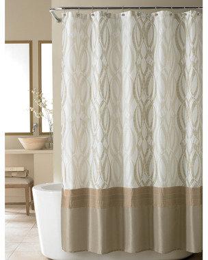 Nicole Miller Golden Rule Fabric Shower Curtain