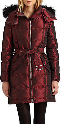 Burberry Fox Fur-Trim Down Puffer Coat