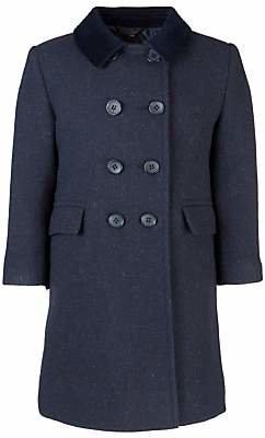 AG Jeans Unbranded School Girls' Shetland Coat, Navy