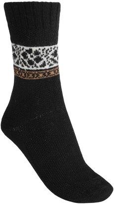 B.ella Pia Floral Socks - Virgin Wool-Cashmere Blend, Crew (For Women)