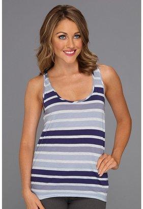 Calvin Klein Jeans Skinny Sunbleached Stripe Tank Top (Calvary Blue) - Apparel