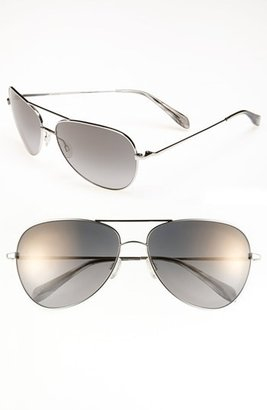 Oliver Peoples Polarized Aviator Sunglasses Copper Gold One Size