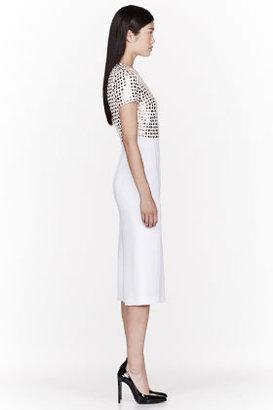 Burberry White Spongy Sable Studded T-Shirt Dress
