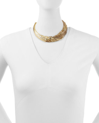 Alexis Bittar Crystal-Embellished Swan Collar Necklace