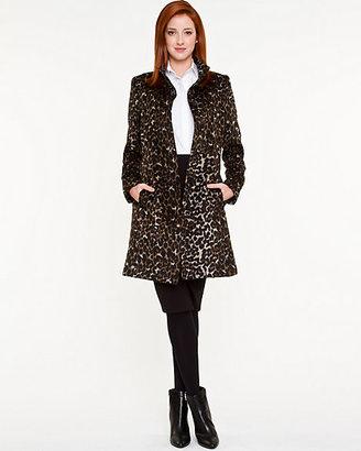Le Château Leopard Wool Blend Coat