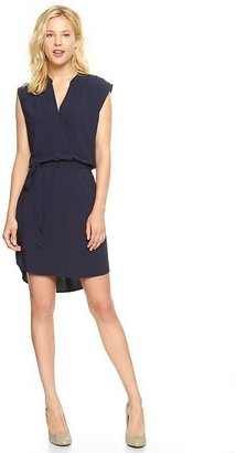 Gap Split-neck sleeveless dress