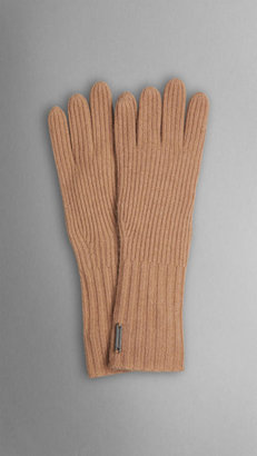 Burberry Cashmere Blend Touch Screen Gloves