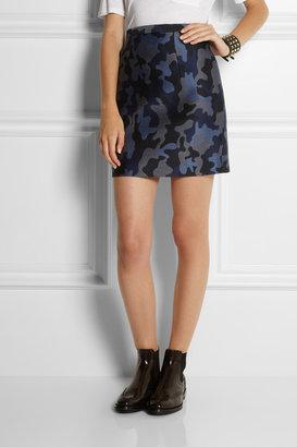 Christopher Kane Camouflage woven silk skirt