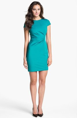 Elie Tahari 'Toni' Side Pleat Sheath Dress