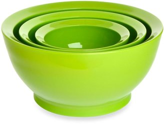 Bed Bath & Beyond CaliBowl Stackable Plastic Mixing Bowl Set of 3 in Green
