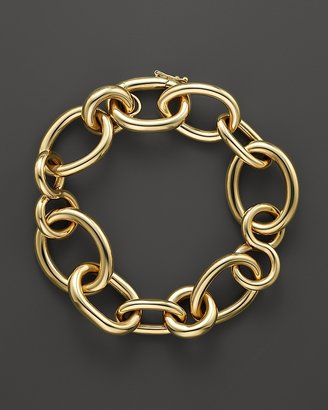 Roberto Coin 18K Yellow Gold Alternating Shape Link Bracelet - 100% Exclusive $4,500 thestylecure.com