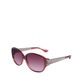 David Yurman Stretched Wheaton Sunglasses, Garnet/Gunmetal