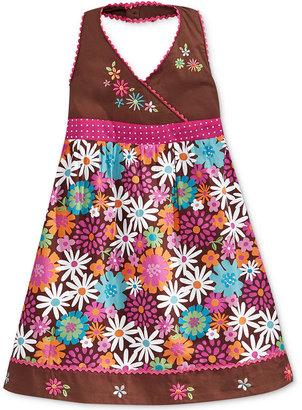 Nannette Little Girls' or Toddler Girls' Embroidered Halter Dress