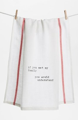 Second Nature By Hand 'If You Met My Family' Towel (2 for $16)