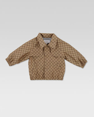 Gucci Waterproof Two-Tone GG Jacket