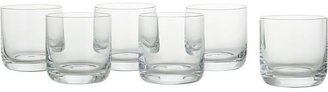Crate & Barrel Set of six crescent double old-fashioned glasses. 10 oz.