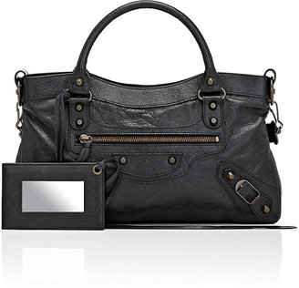 Balenciaga Women's Arena Leather Classic First Bag $1,685 thestylecure.com