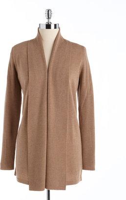 Kate Hill Plus Size Wool Flyaway Sweater