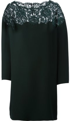 Valentino boxy lace panel dress