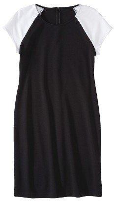 Mossimo Petites Short-Sleeve Ponte Dress - Assorted Colors